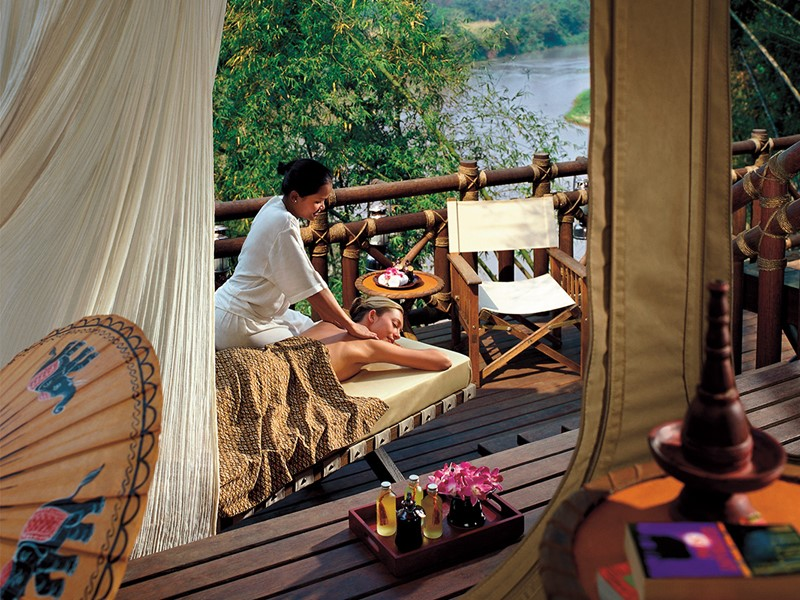 Le spa de l'hôtel 5 étoiles Four Seasons Tented Camp