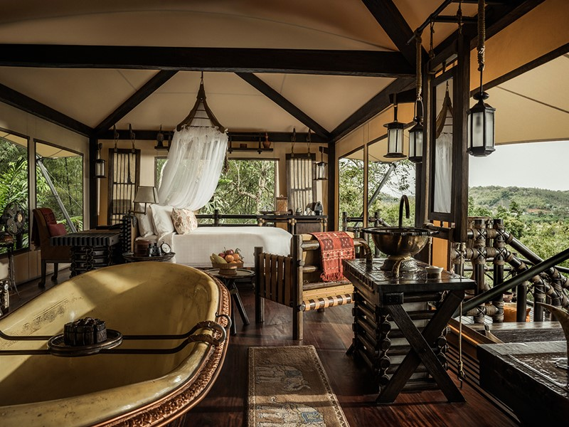 Superior Tent du Four Seasons Tented Camp Golden Triangle