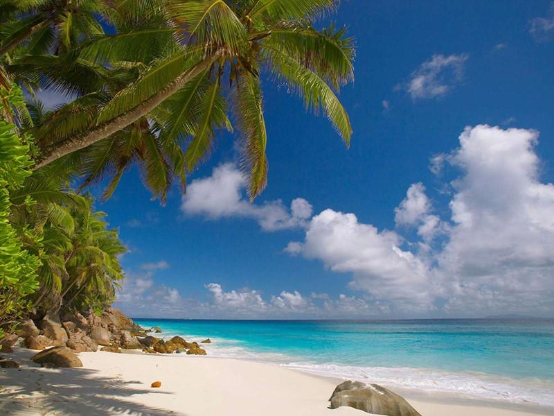 Autre vue de la plage de l'hôtel Fregate Island