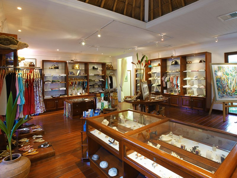 La boutique de l'hôtel Fregate Island aux Seychelles