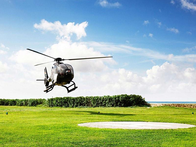 Service d'hélicoptère du Fregate Island aux Seychelles