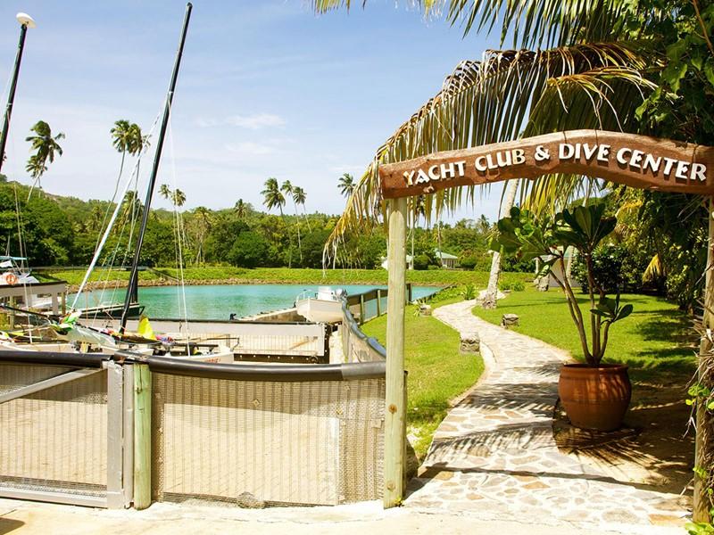Le Yatch Club du Fregate Island aux Seychelles