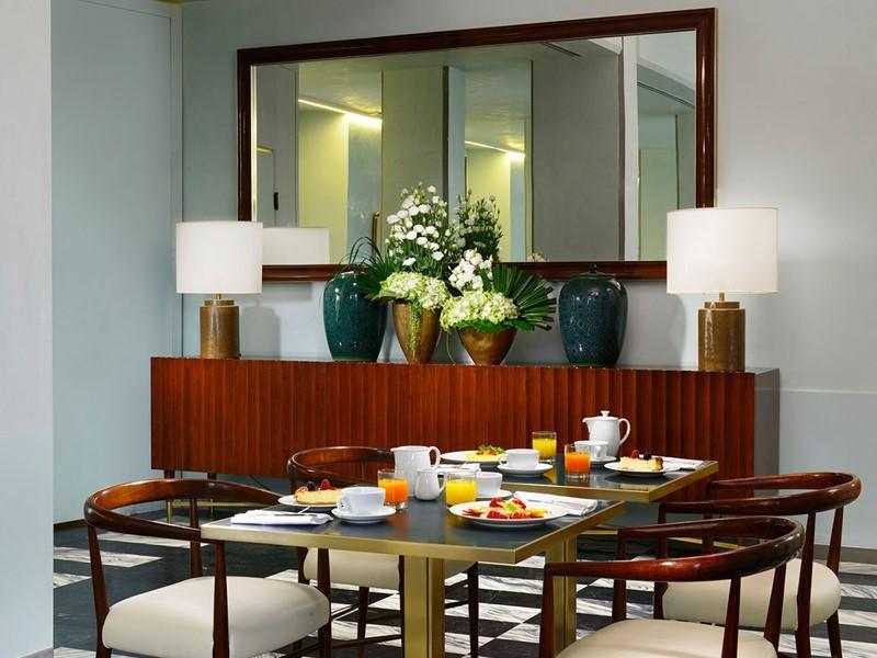 Salle de petit déjeuner Il Chiostro du Grand Hotel Minerva