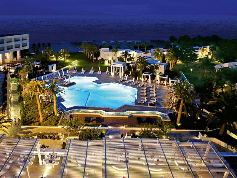 Vue de la piscine du Grecotel Creta Palace