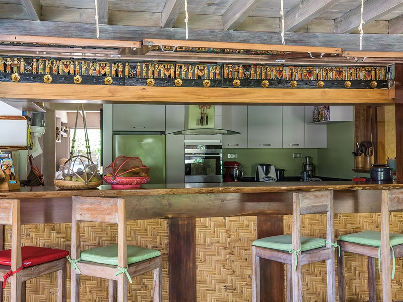 Le bar du Green Lodge à Moorea