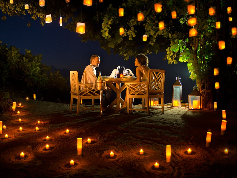 Dîner romantique au H Resort Beau Vallon Beach