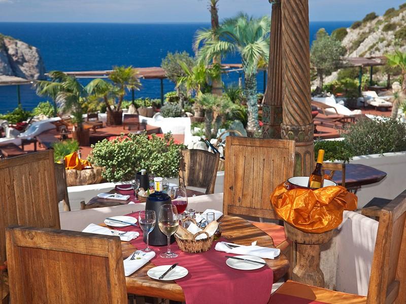 Le restaurant Edén de l'hôtel Hacienda Na Xamena