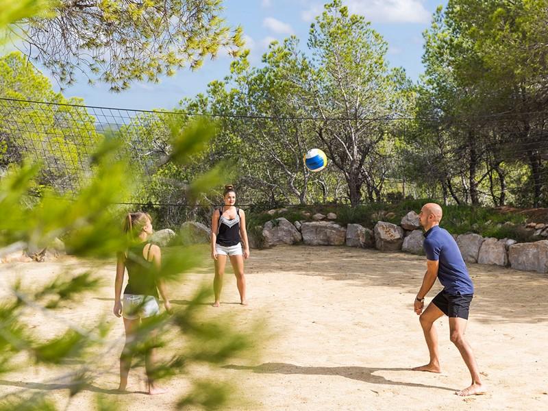 Partie de volley à l'hôtel Hacienda Na Xamena