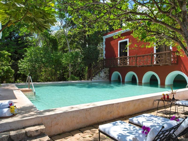 La piscine de l'Hacienda Santa Rosa au Mexique