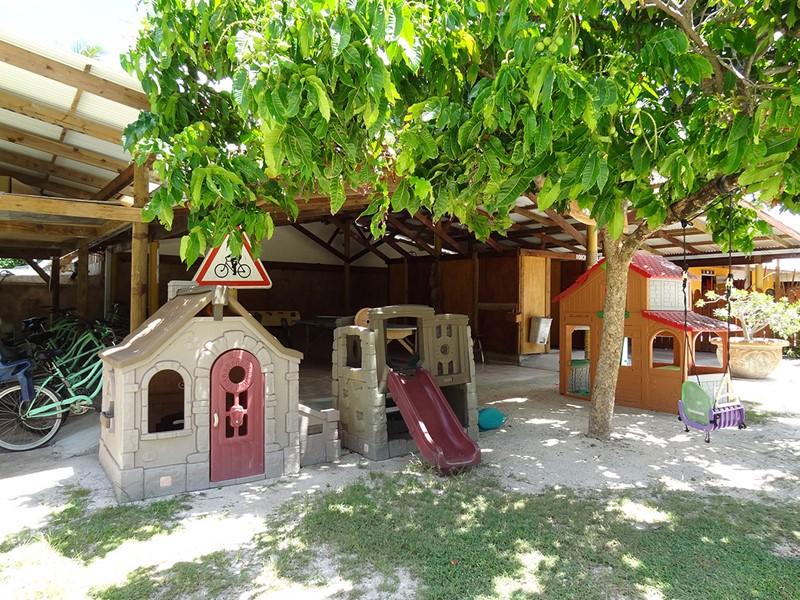 Le coin enfants de l'hôtel Havaiki Lodge Fakarava en Polynésie