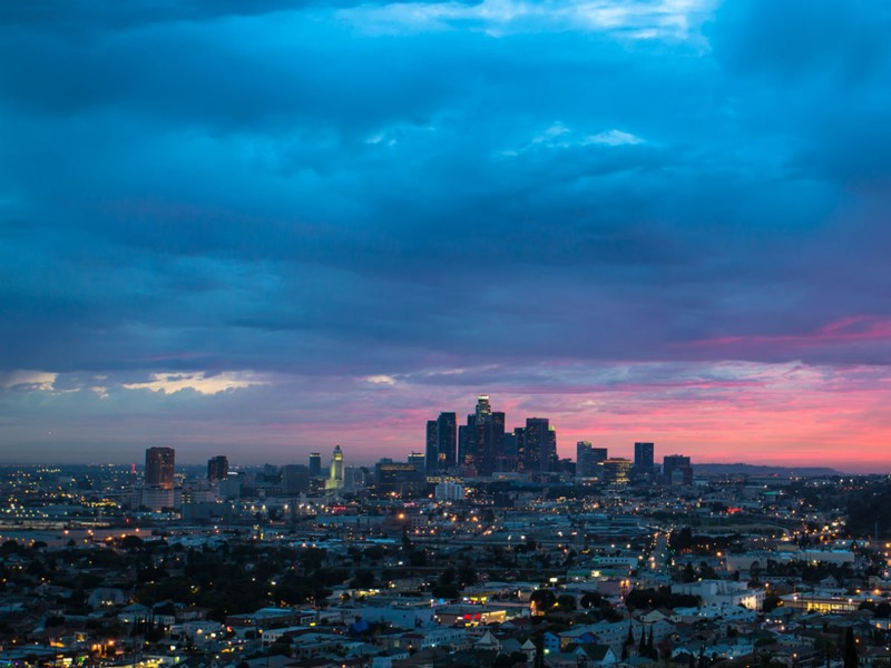 La superbe skyline de Los Angeles