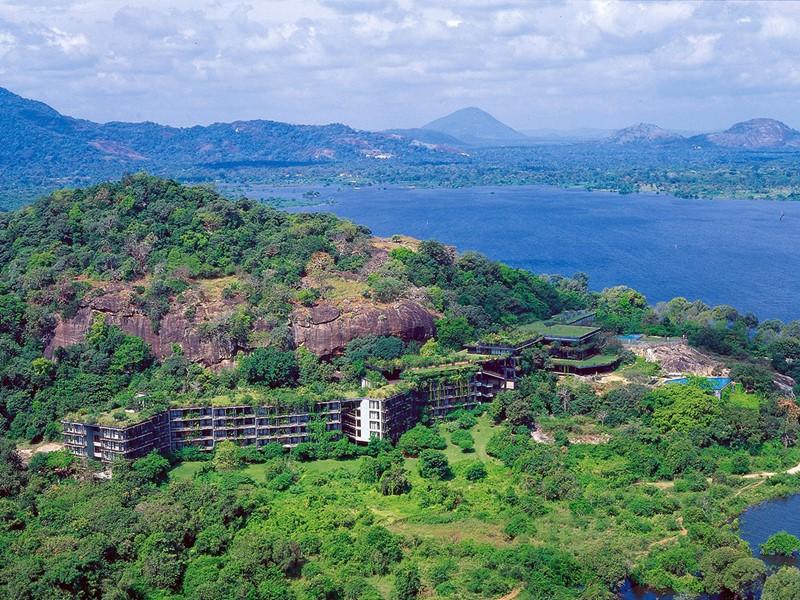 Vue aérienne de l'hôtel Heritance Kandalama