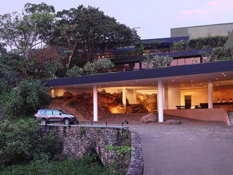Lobby de l'Heritance Kandalama au Sri Lanka