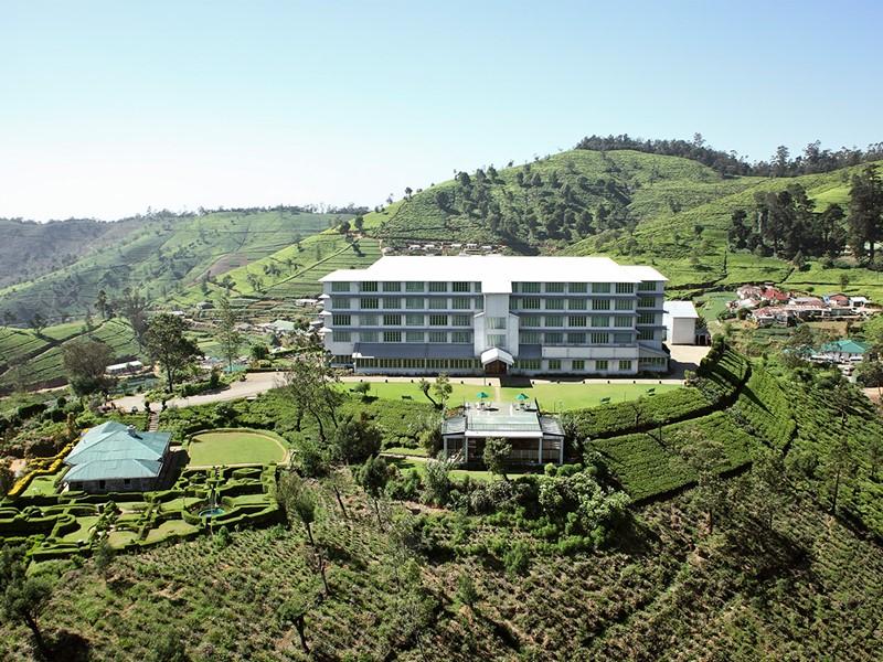 Vue aérienne de l'hôtel Heritance Tea Factory