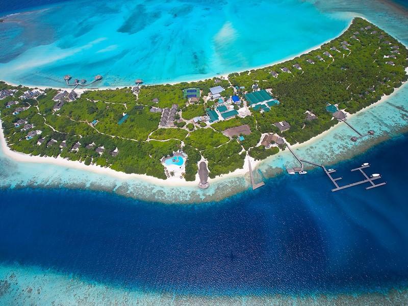 Vue aérienne du Hideaway Beach Resort