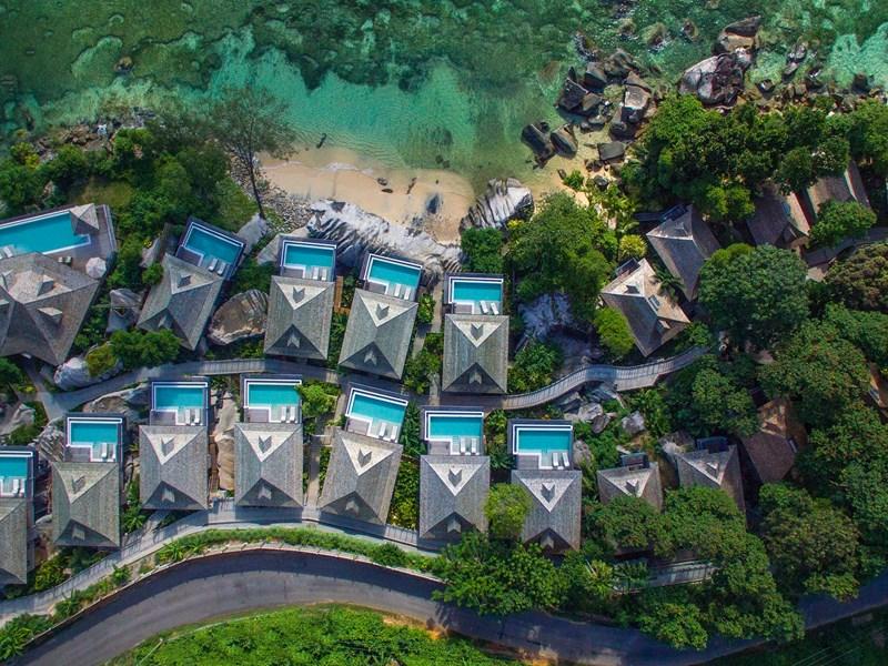 Les villas sont nichés au coeur d'une végétation tropicale