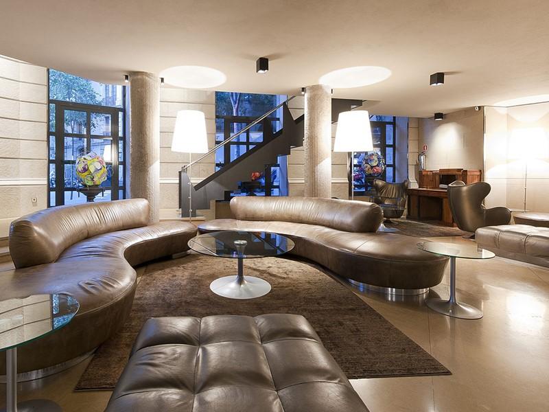 Le lobby du Claris Hotel situé à Barcelone