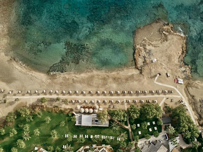 Vue aérienne sur la plage