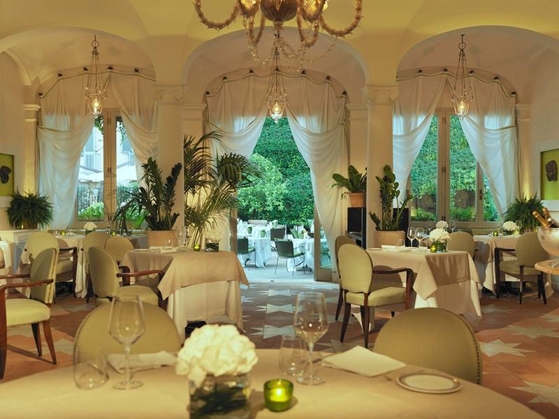 Délicieuse cuisine italienne au restaurant Le Jardin de Russie de l'Hôtel de Russie
