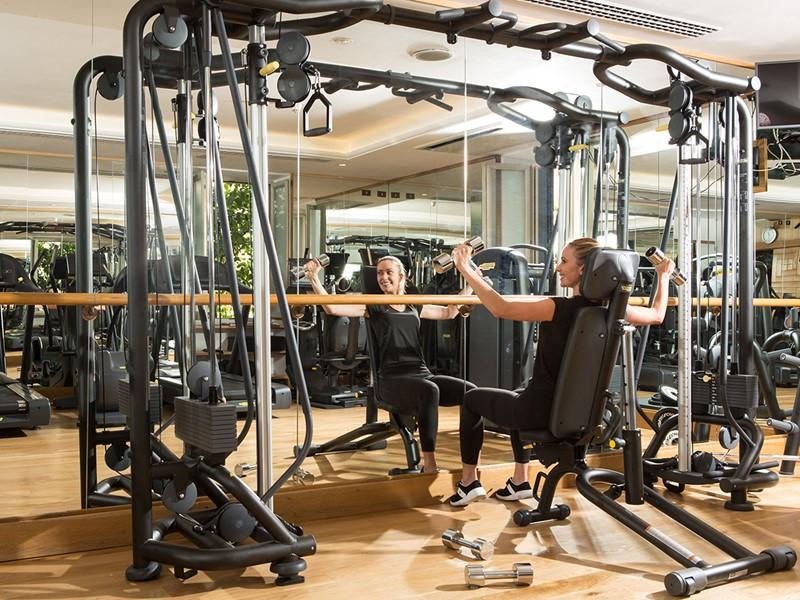 La gym de l'Hôtel de Russie, situé en plein coeur de Rome