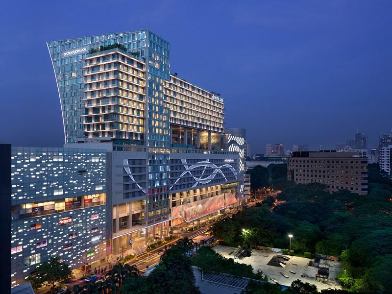 Vue du Jen Orchardgateway, l'endroit le plus animé de Singapour