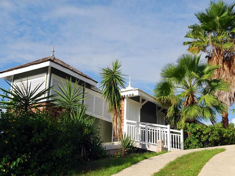 Architecture typiquement créole de l'Hotel Plein Soleil
