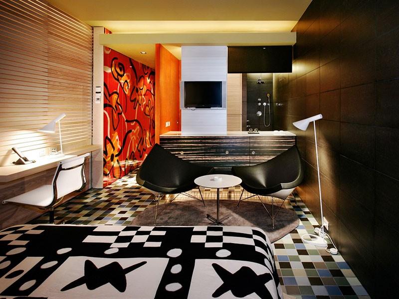 Autre vue de la Chambre De Luxe Club de l'hôtel Silken Puerta de América à Madrid