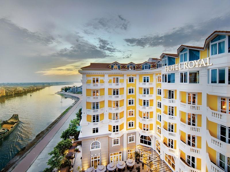 Vue de l'Hotel Royal Hoi An, le meilleur hôtel de la ville