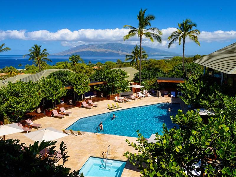 La superbe piscine de l'hôtel Wailea à Hawaii