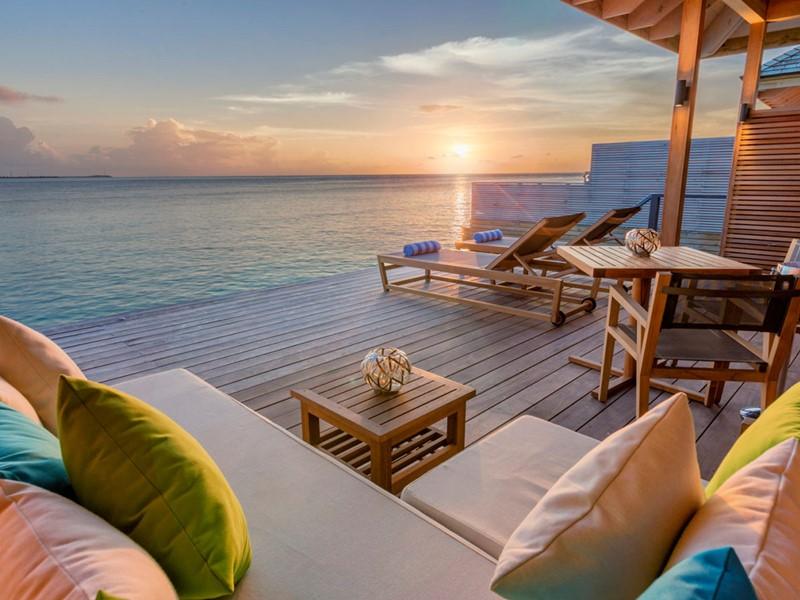 La terrasse de l'Ocean Villa