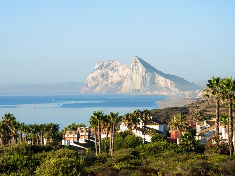 La vue de l'hôtel, sur Gibraltar