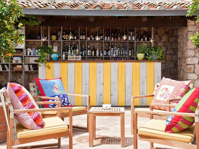 Bar All Aperto de l'hôtel Il Pelicano en Italie