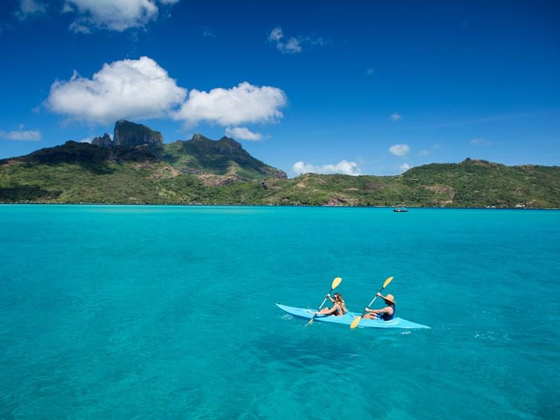 Balade en kayak sur le lagon