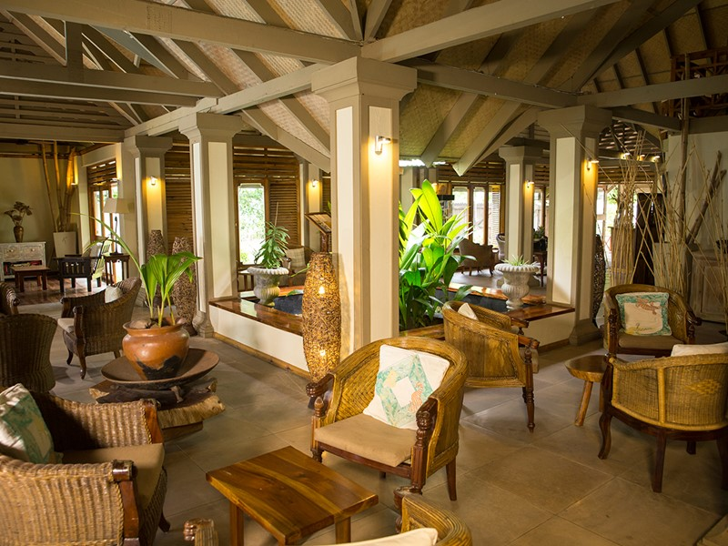 Le lobby de l'Indian Ocean Lodge