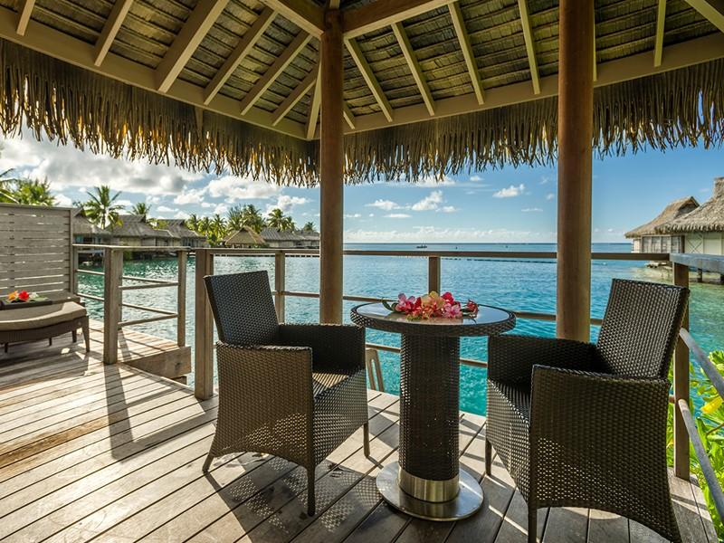 Magnifique panorama depuis la terrasse de votre bungalow à l'Intercontinental
