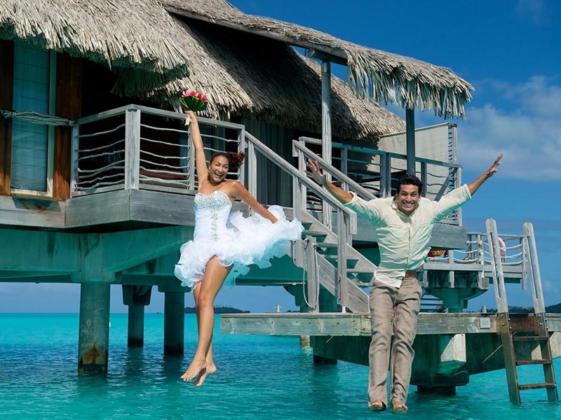 Mariage dans un cadre unique à l'Intercontinental Bora Bora