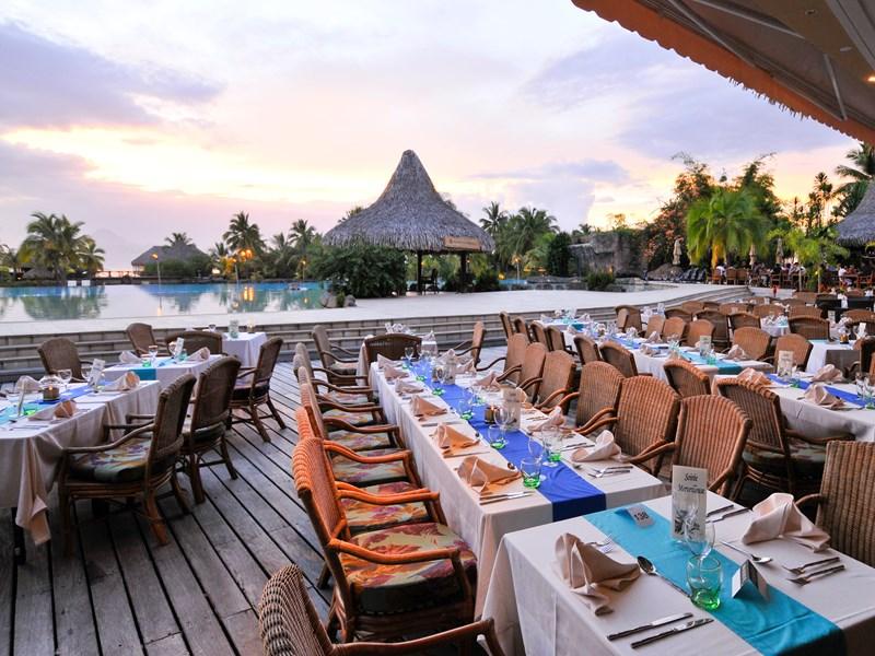 Le restaurant typiquement polynésien Te Tiare