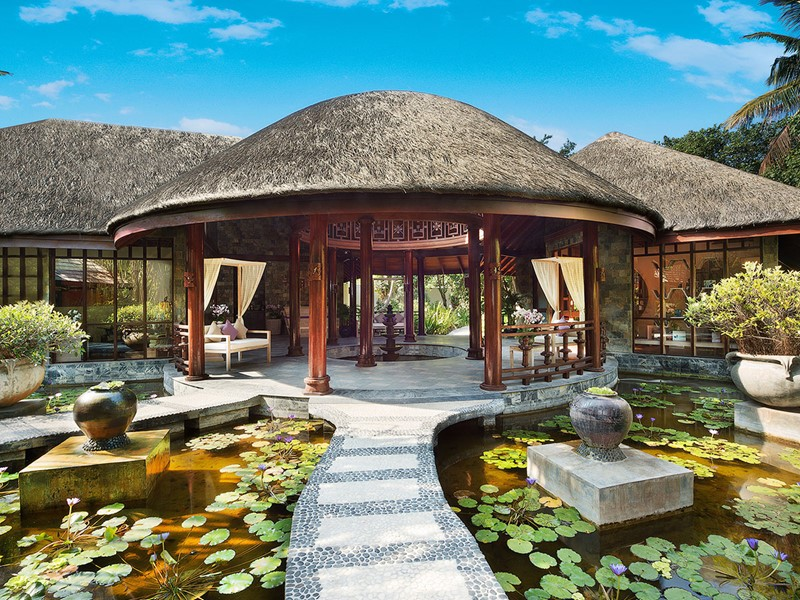 Vue du spa de l'hôtel 5 étoiles JA Manafaru