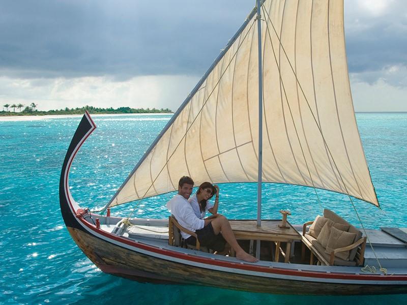 Balade en bateau au JA Manafaru aux Maldives