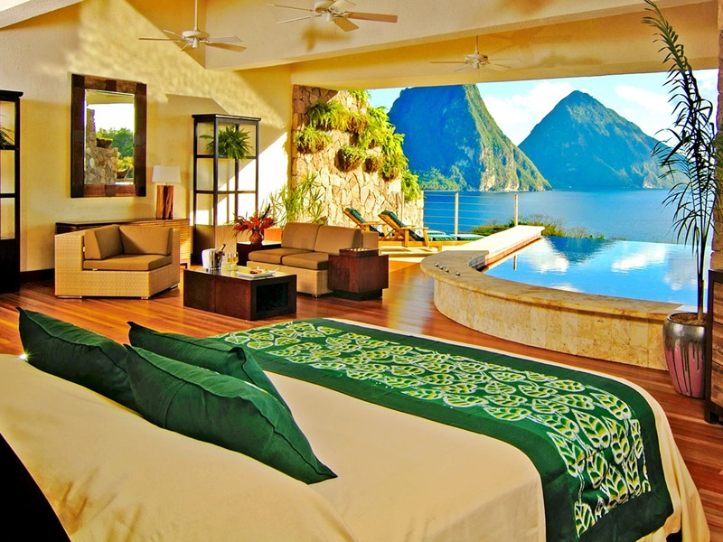 Suite Star de l'hôtel Jade Mountain à Sainte-Lucie