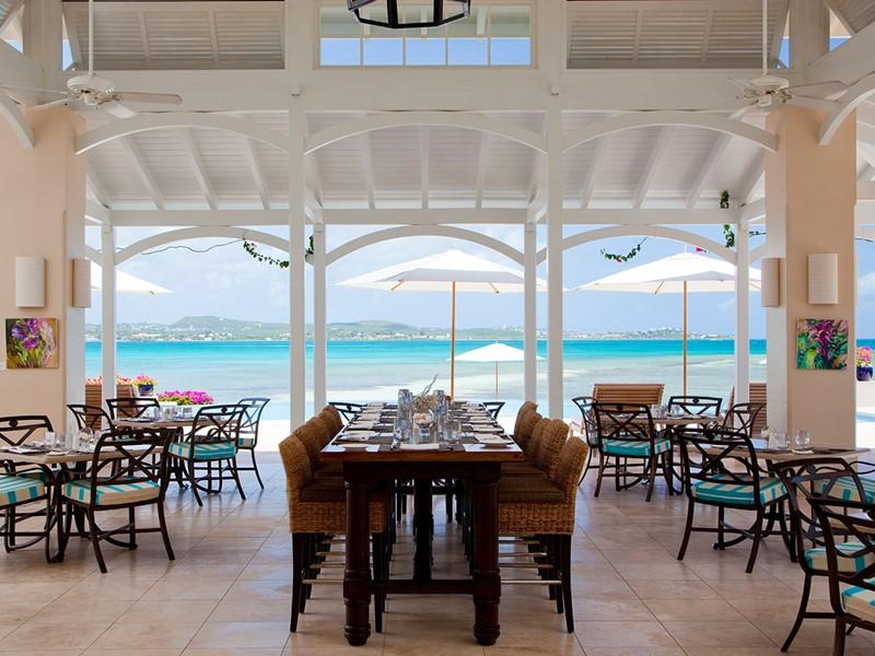 Le restaurant Pool Grille du Jumby Bay Island