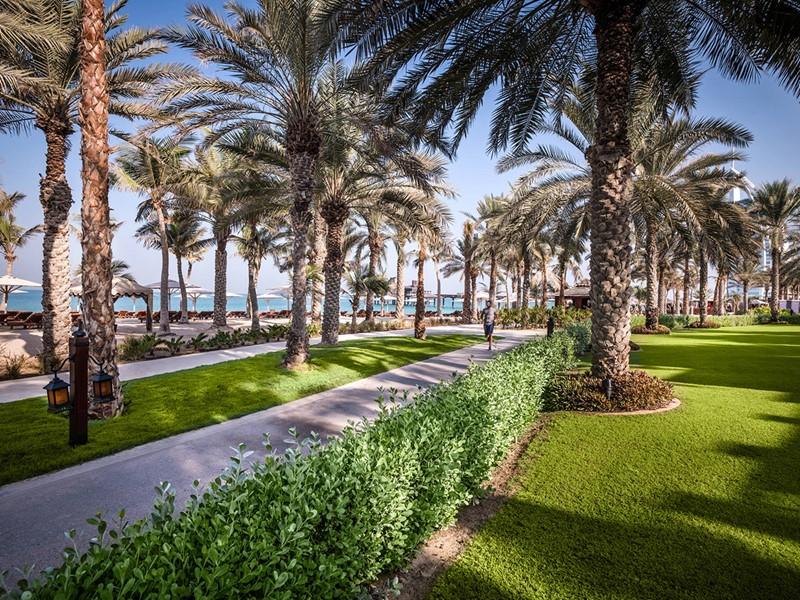 Le jardin verdoyant du Jumeirah Al Naseem à Dubaï