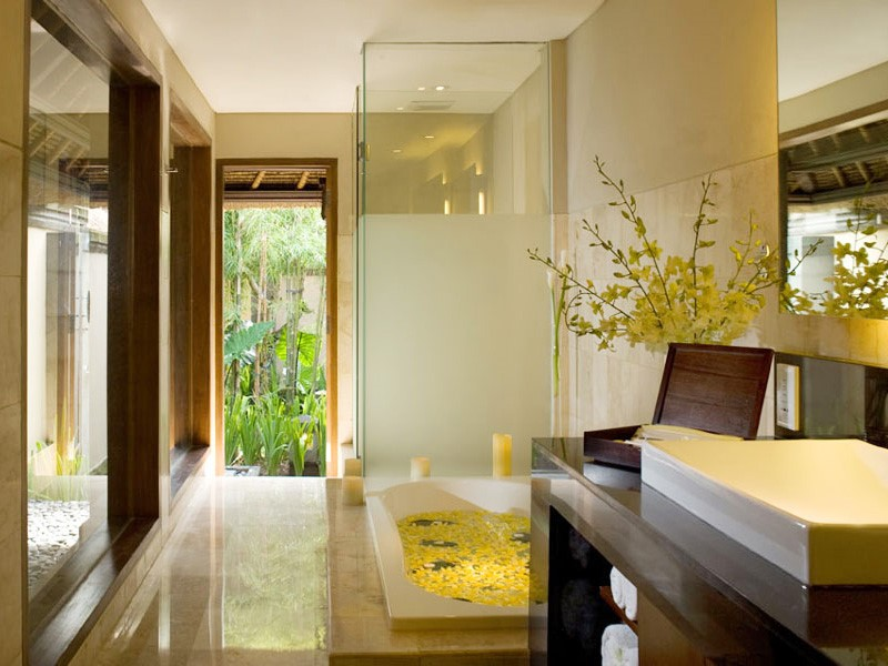 Salle de bain de la Villa 2 chambres avec piscine