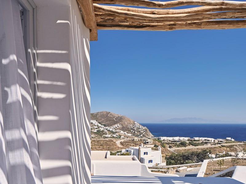 Un panorama d'exception depuis la Katikies Villas Mykonos