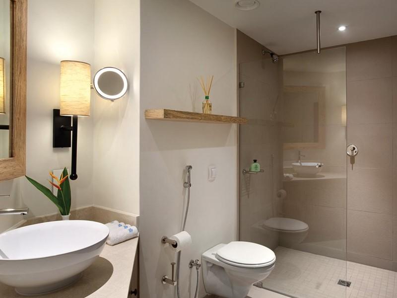 La salle de bain de la Suite du Kempinski Seychelles