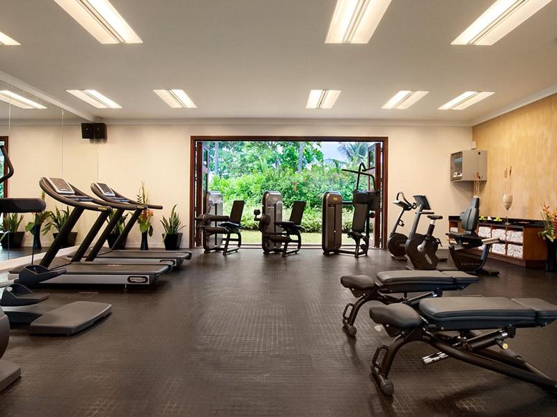 La gym du Kempinski Resort aux Seychelles