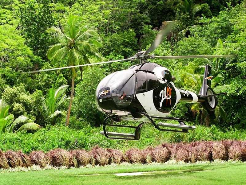 Profitez d'une balade en hélicoptère au Kempinski Resort