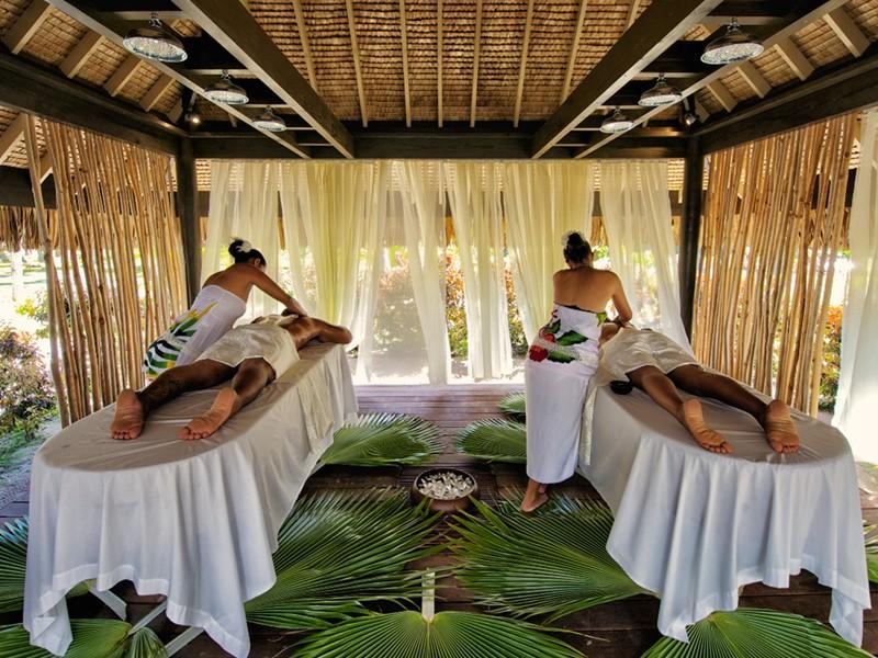 Cabine de massage au spa de l'hôtel Kia Ora
