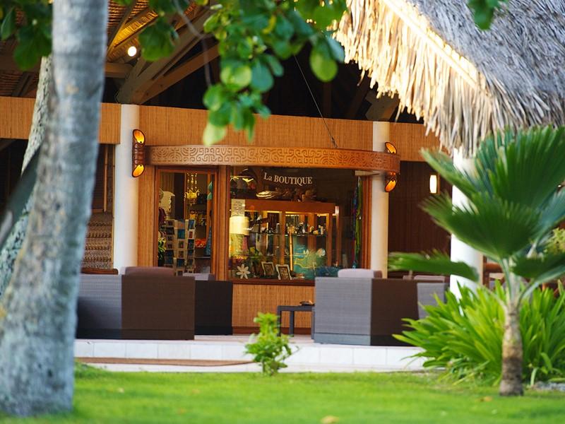 La boutique de l'hôtel Kia Ora, situé à Rangiroa