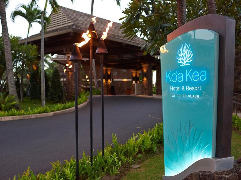 Arrivée au Koa Kea Hotel & Resort, situé à Hawaii